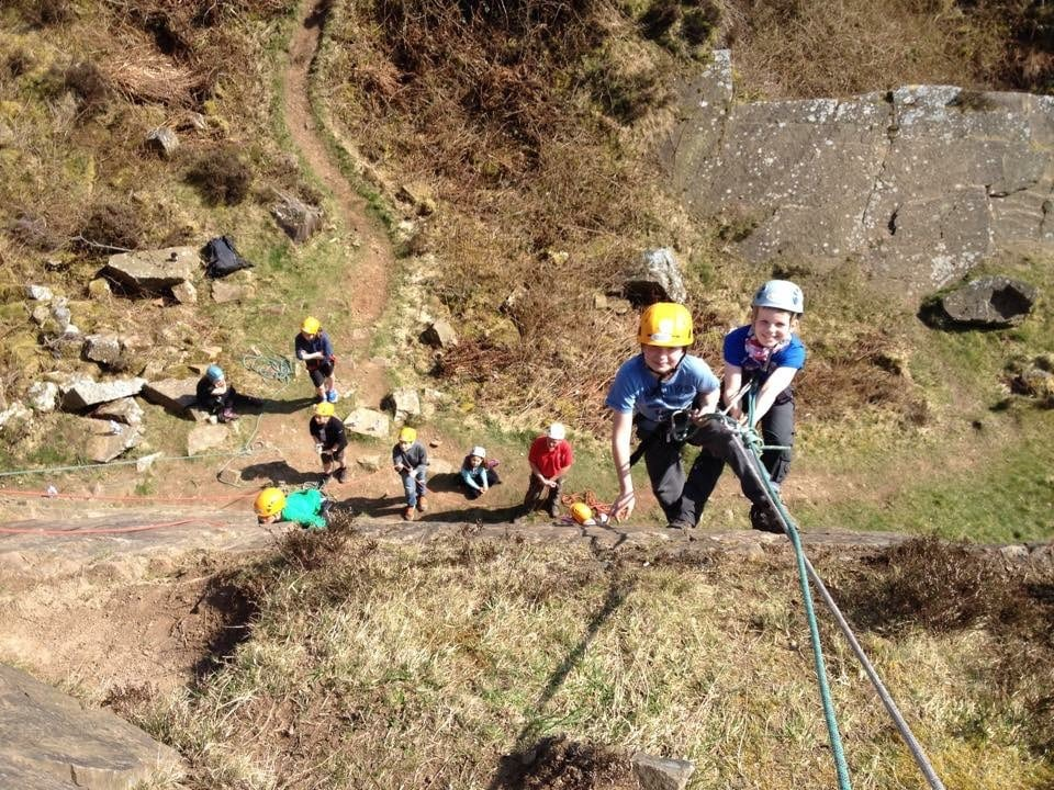 Children Abseiling at Tegg's Nose Country Park