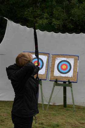 Single archer at Tegg's Nose Country Park