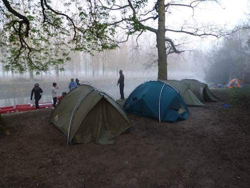 Duke of Edinburgh students tents by a lake