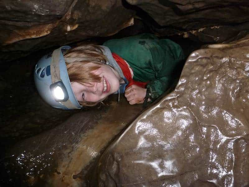 Caving - holiday club activity