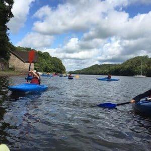 Kayaking at Rudyard Lake