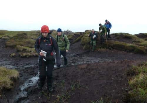 National Navigation Award Scheme participants on a walk