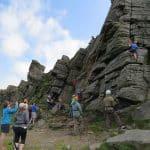 Climbing at Windgather Rocks