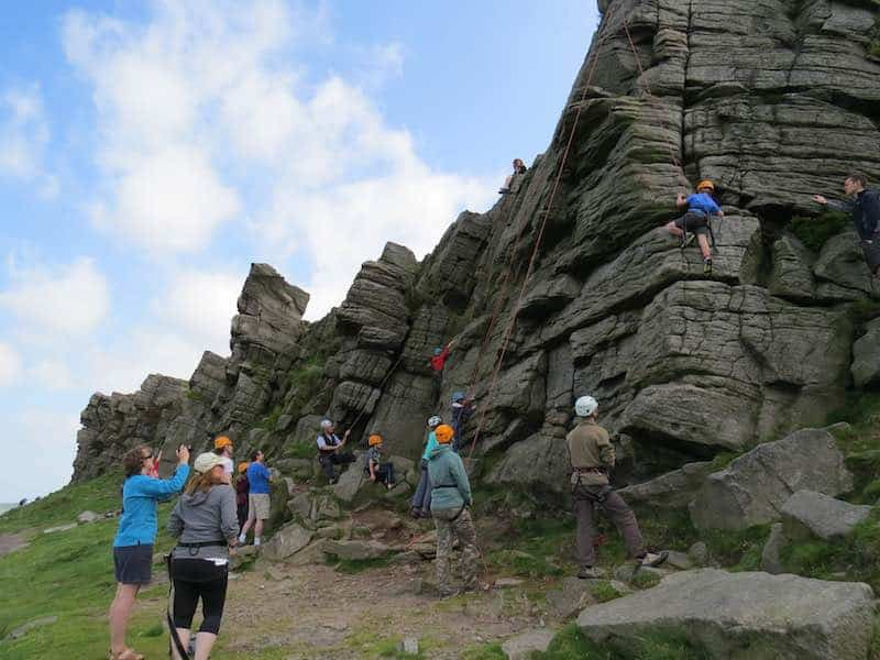 Climbing at Windgather Rocks