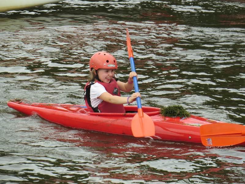 Kayaking child