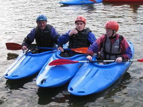 Three Adults Kayaking