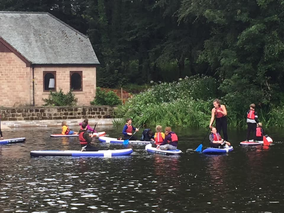 Paddle Boarding at Rudyard Lake